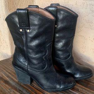 Lucky Brand Elle Black Western Cowboy Boots